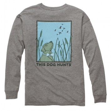This Dog Hunts: Heather Grey Long Sleeve
